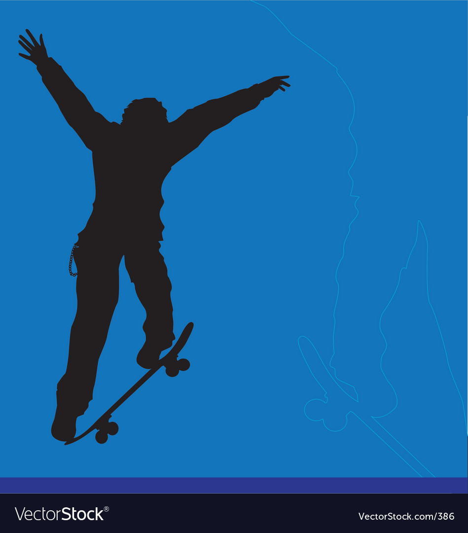 Skater big ollie vector | Price: 1 Credit (USD $1)