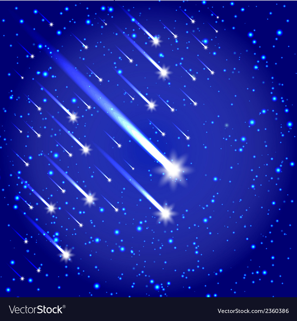 Space background with stars and comets vector | Price: 1 Credit (USD $1)