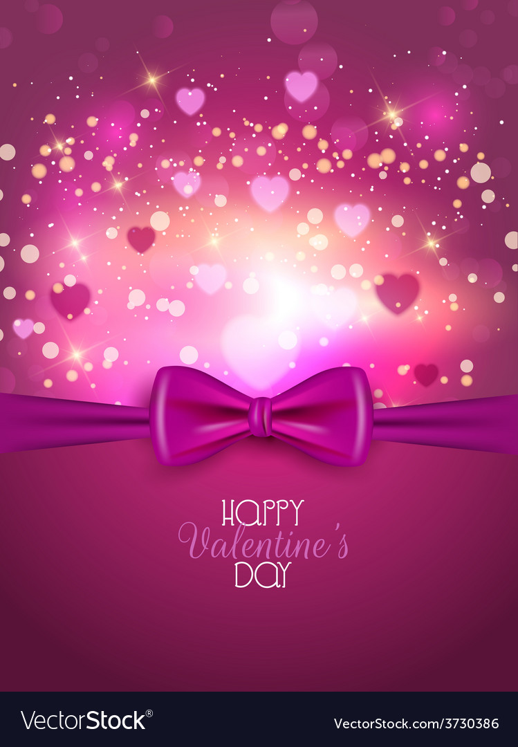 Valentines day background with ribbon 1812 vector | Price: 1 Credit (USD $1)