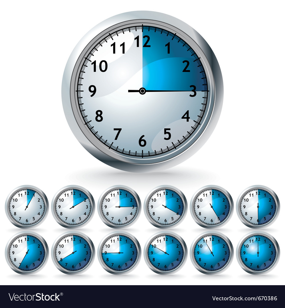 World clocks vector | Price: 1 Credit (USD $1)