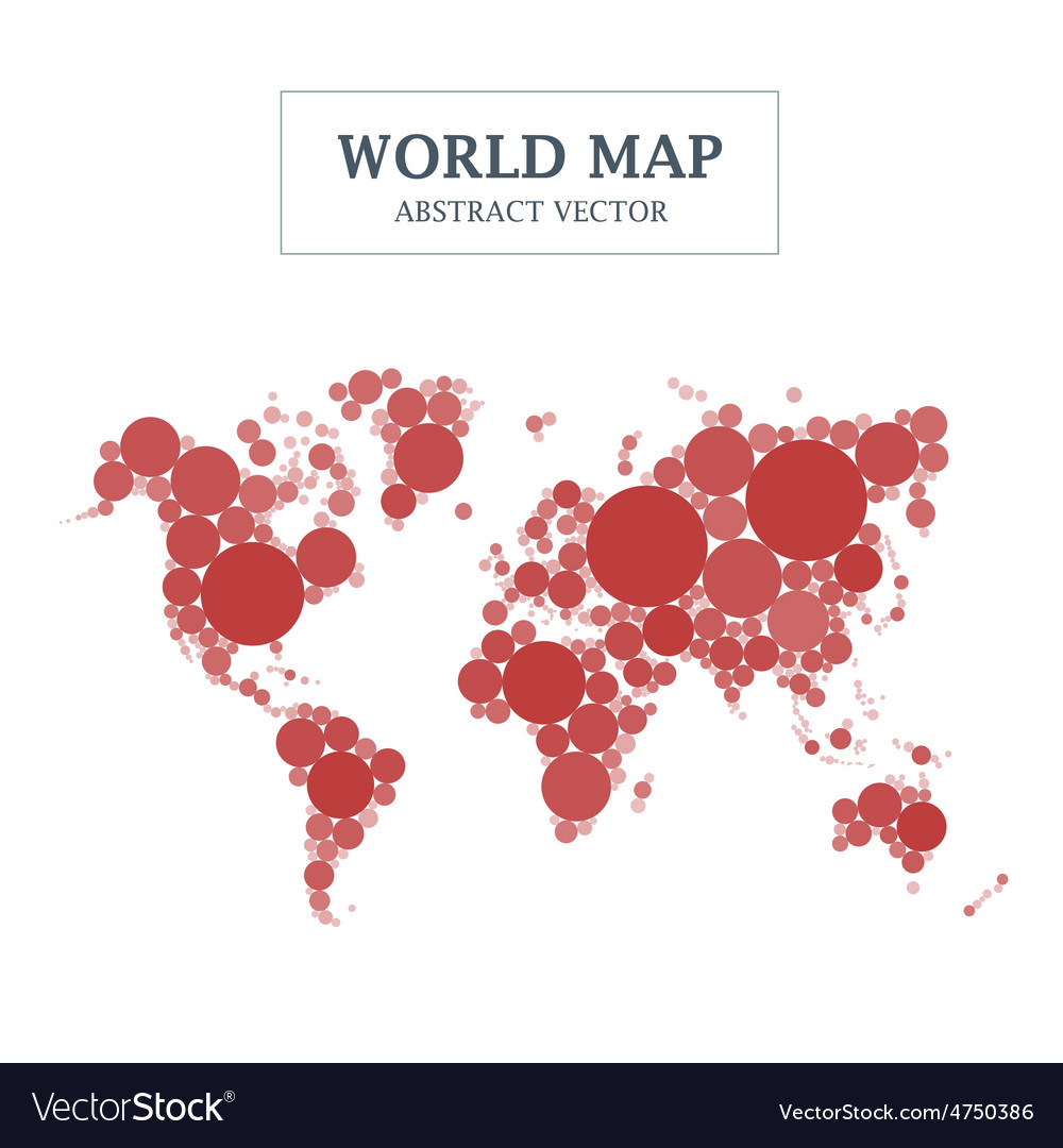 World map circle and dot design vector | Price: 1 Credit (USD $1)