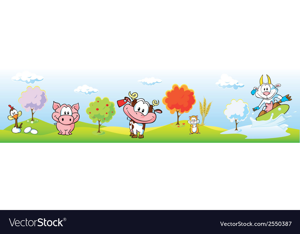 Animal farm banner vector | Price: 1 Credit (USD $1)