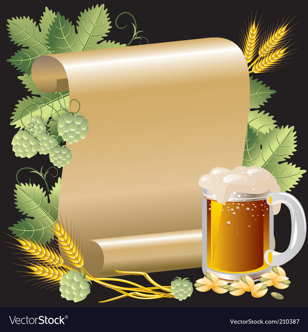 Beer and roll vector | Price: 3 Credit (USD $3)