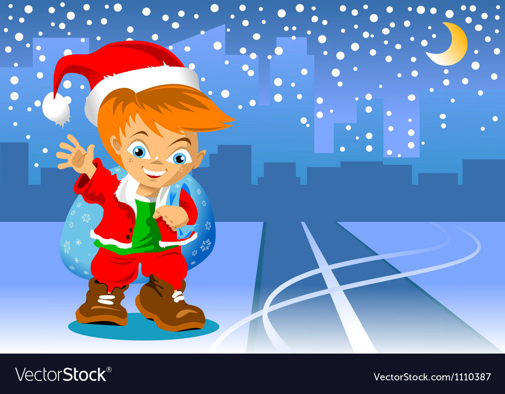 Christmas road vector | Price: 1 Credit (USD $1)
