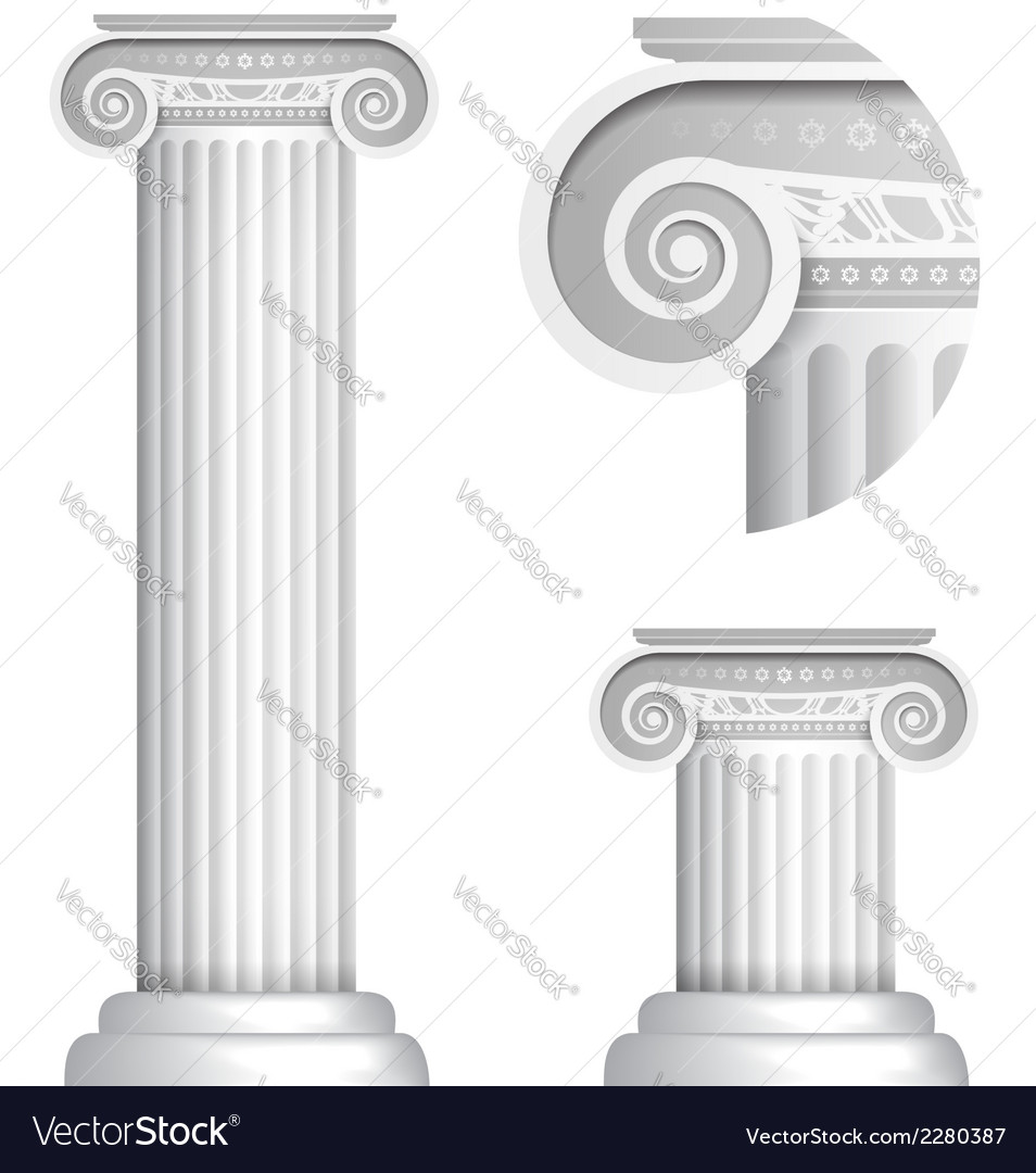 Classical greek or roman ionic column vector | Price: 1 Credit (USD $1)