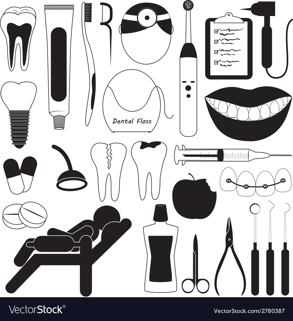 Dental and teeth care icons vector | Price: 1 Credit (USD $1)