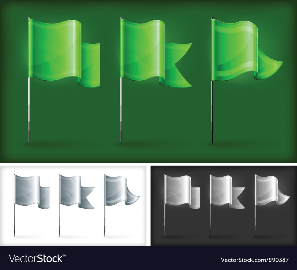 Flags three kinds vector | Price: 3 Credit (USD $3)