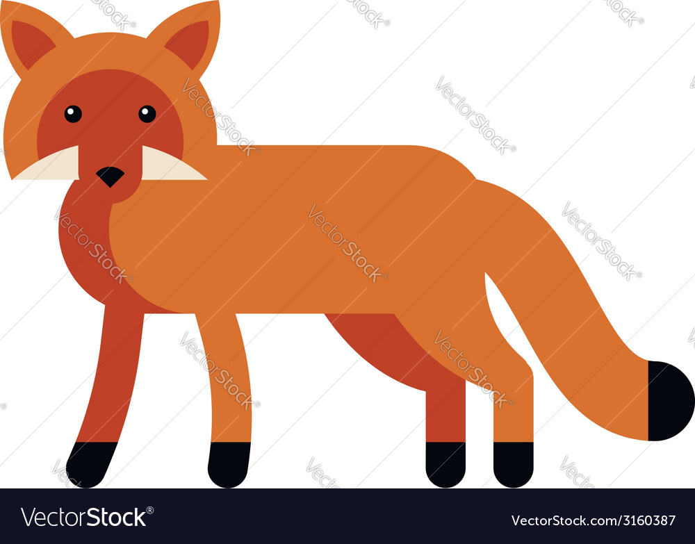 Fox flat icon vector | Price: 1 Credit (USD $1)
