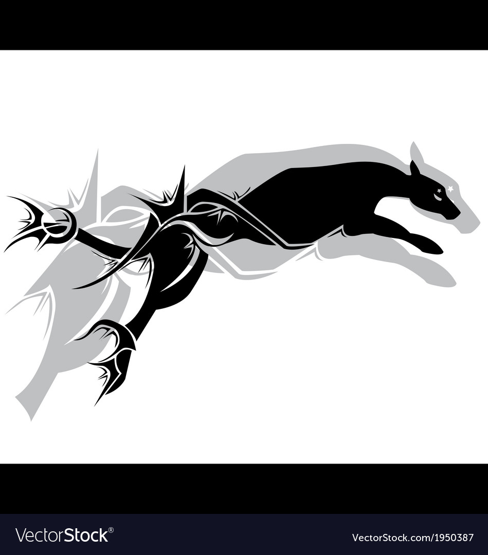 Jaguar fier tribal tattoo vector | Price: 1 Credit (USD $1)