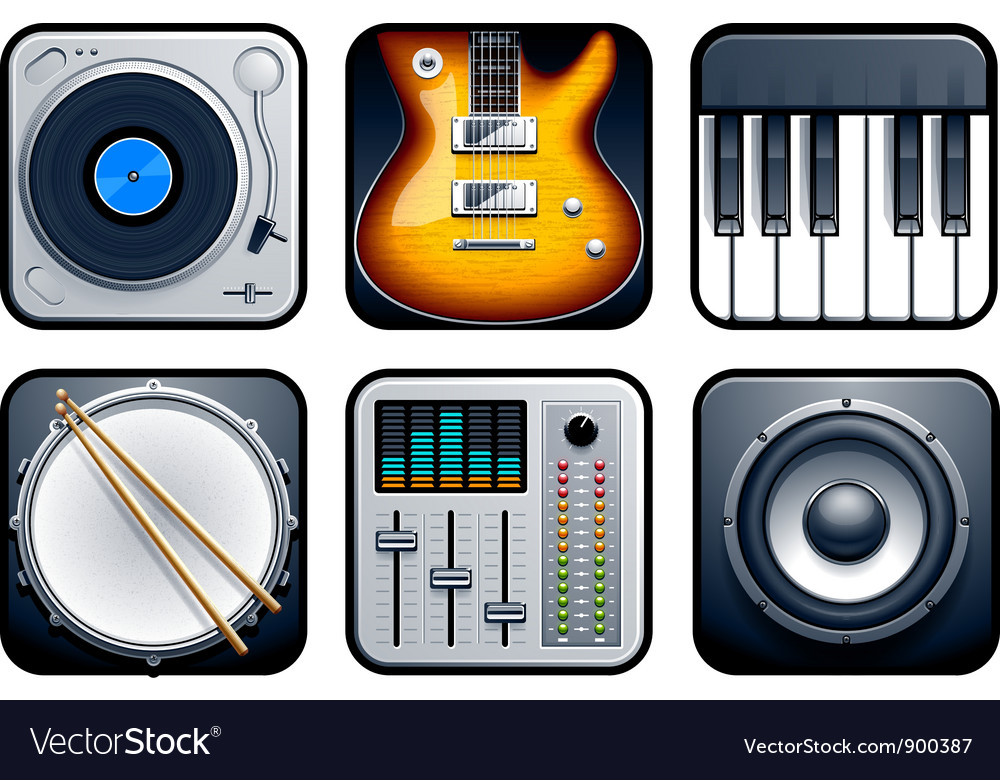 Musical icons vector | Price: 3 Credit (USD $3)