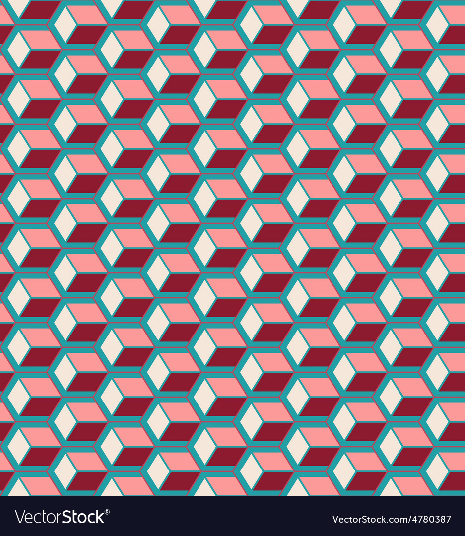 Red cubes seamless pattern vector | Price: 1 Credit (USD $1)