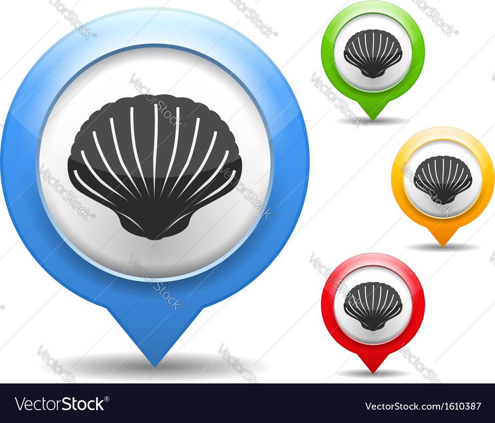 Seashell icon vector | Price: 1 Credit (USD $1)