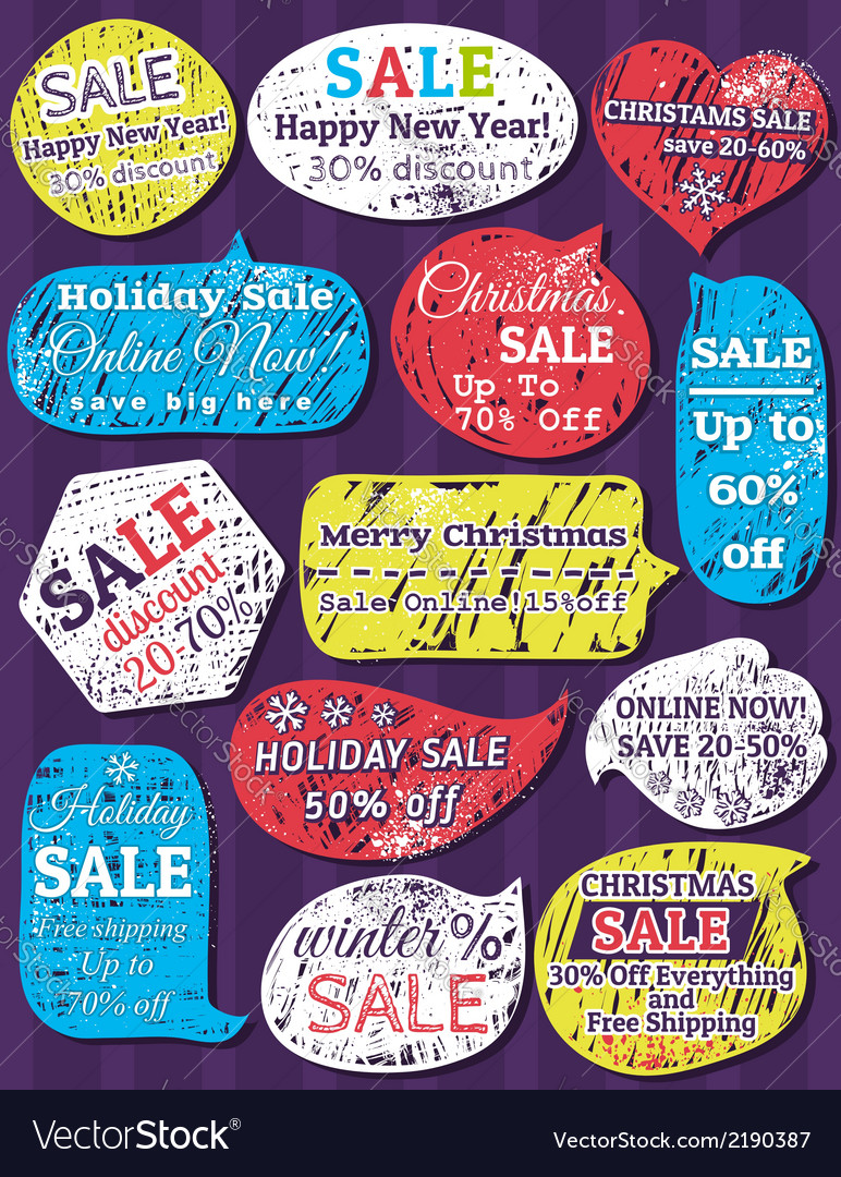 Set of special sale offer labels and banners for c vector | Price: 1 Credit (USD $1)