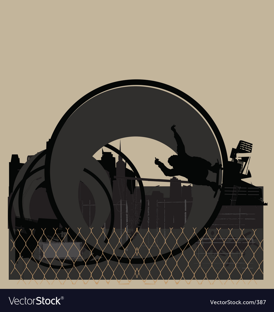 Skater in urban pipe vector | Price: 1 Credit (USD $1)