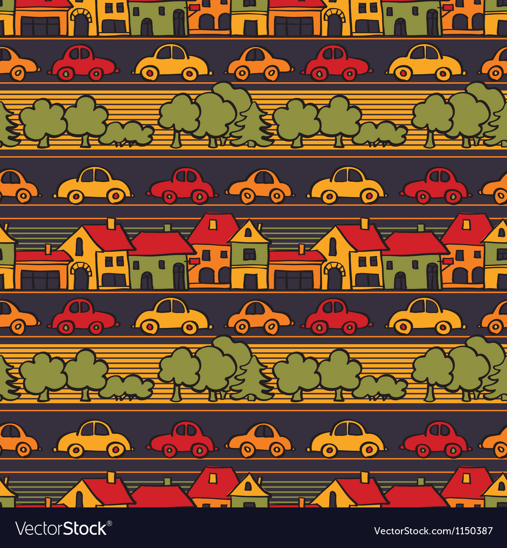 Small town vector | Price: 1 Credit (USD $1)