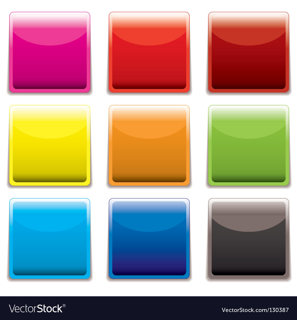 Square plastic web icon vector | Price: 1 Credit (USD $1)