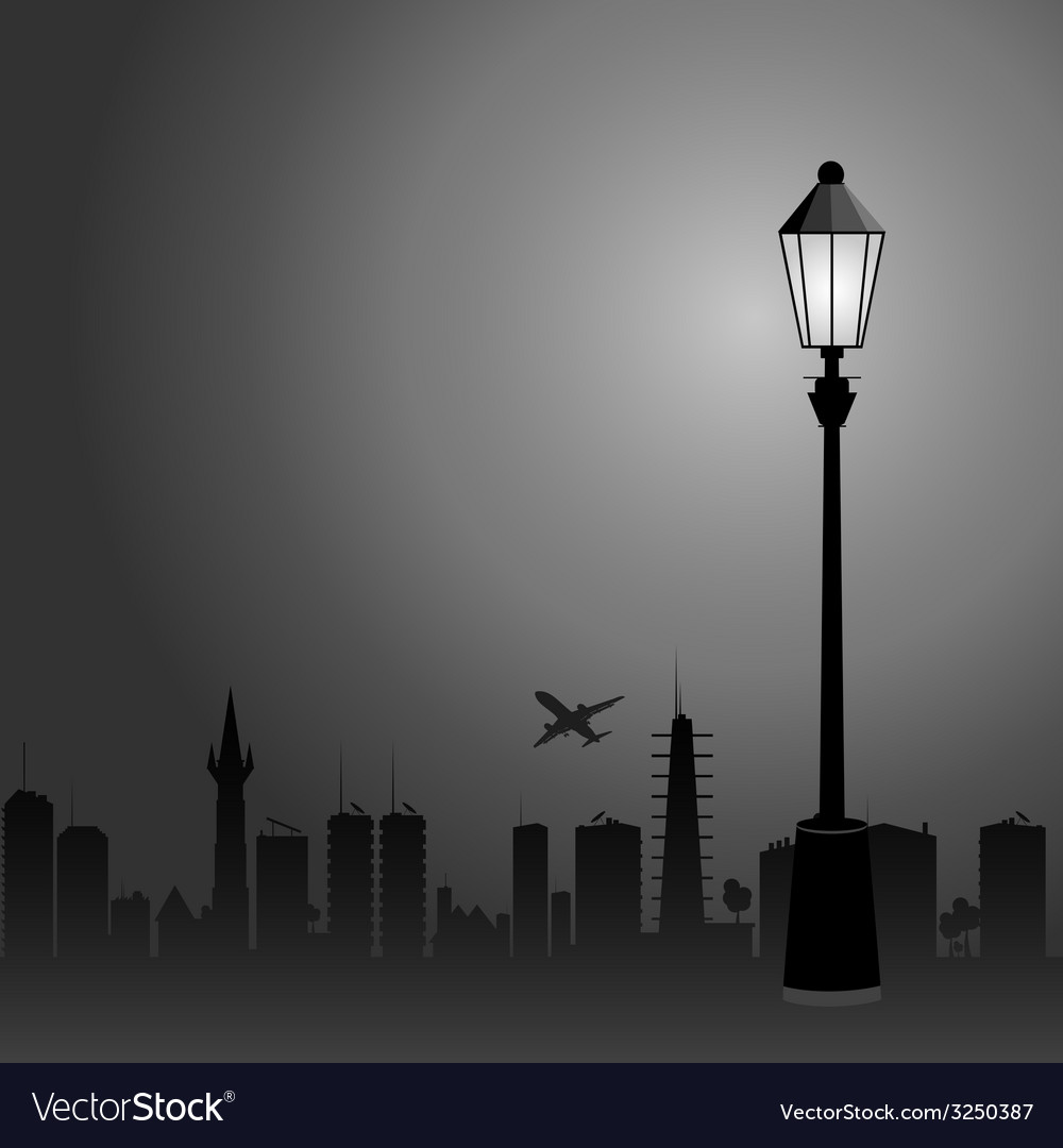 Street lights and the city color vector | Price: 1 Credit (USD $1)
