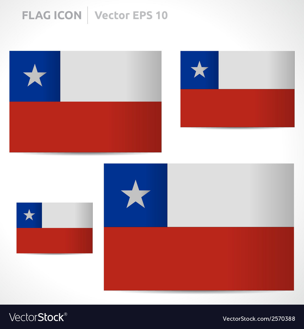 Chile flag template vector | Price: 1 Credit (USD $1)