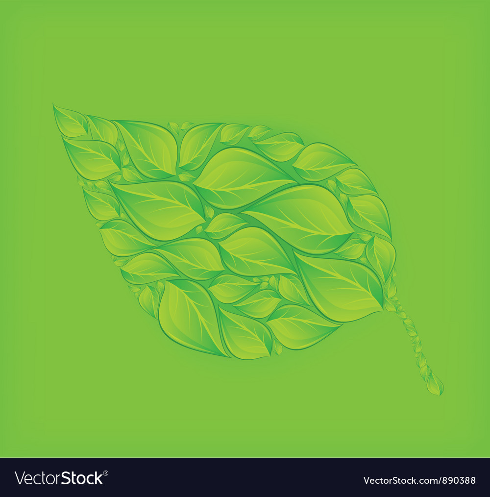 Green leaf green background vector | Price: 3 Credit (USD $3)