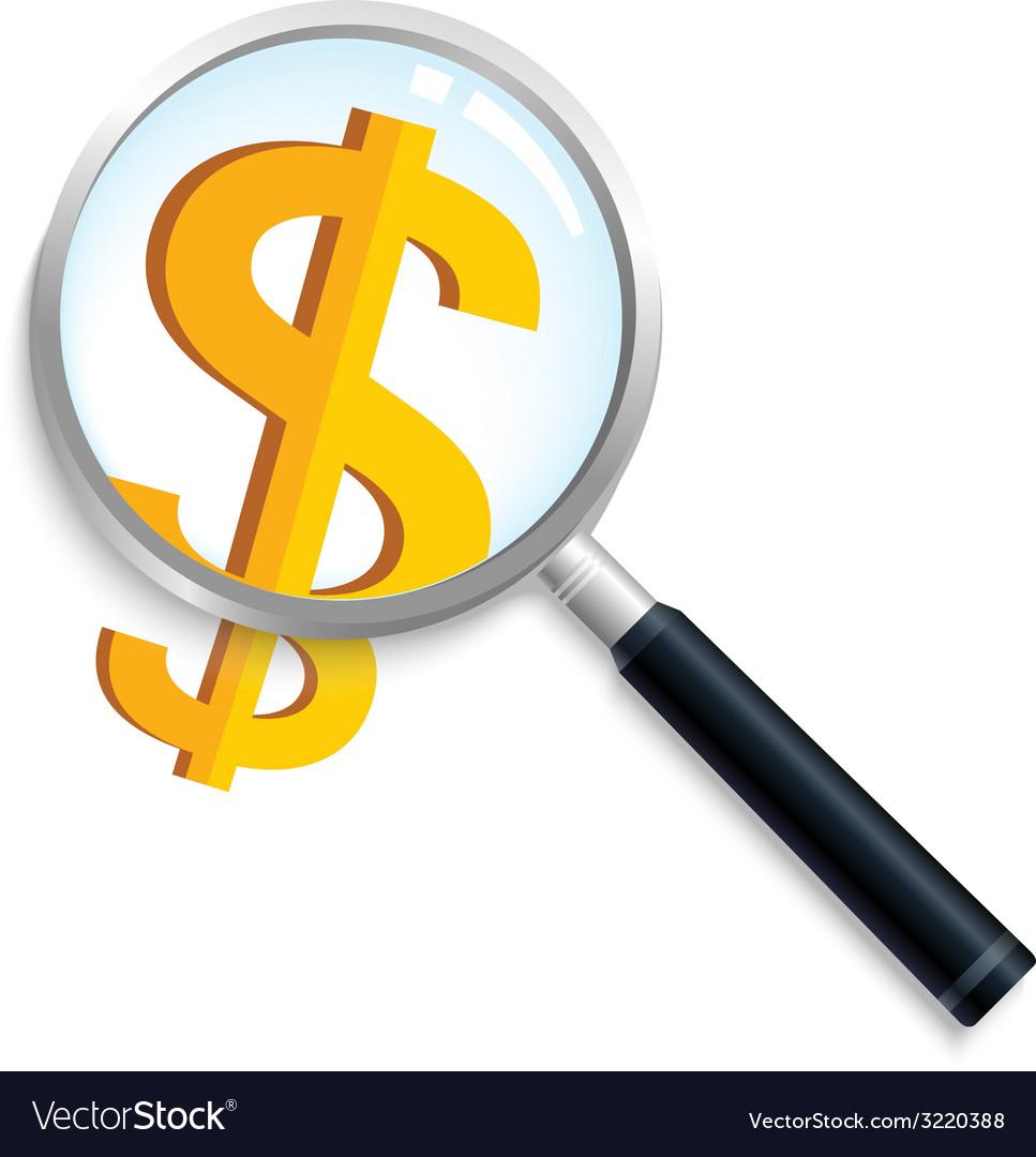 Magnifyingmoney vector | Price: 1 Credit (USD $1)
