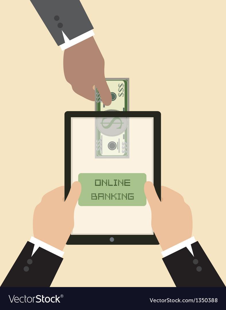 Online banking concept send money via smart phone vector | Price: 1 Credit (USD $1)