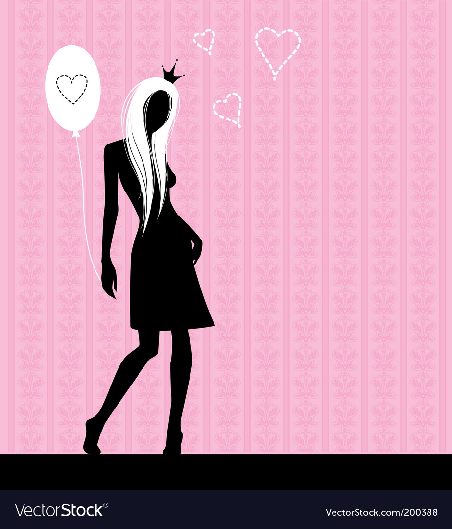 Pink love vector | Price: 1 Credit (USD $1)