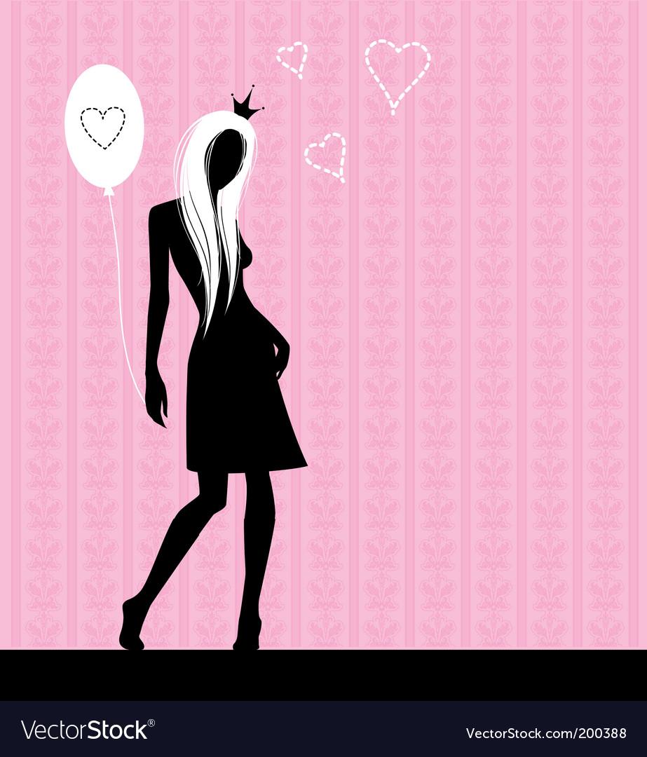 Pink love vector | Price: 1 Credit (USD $1)