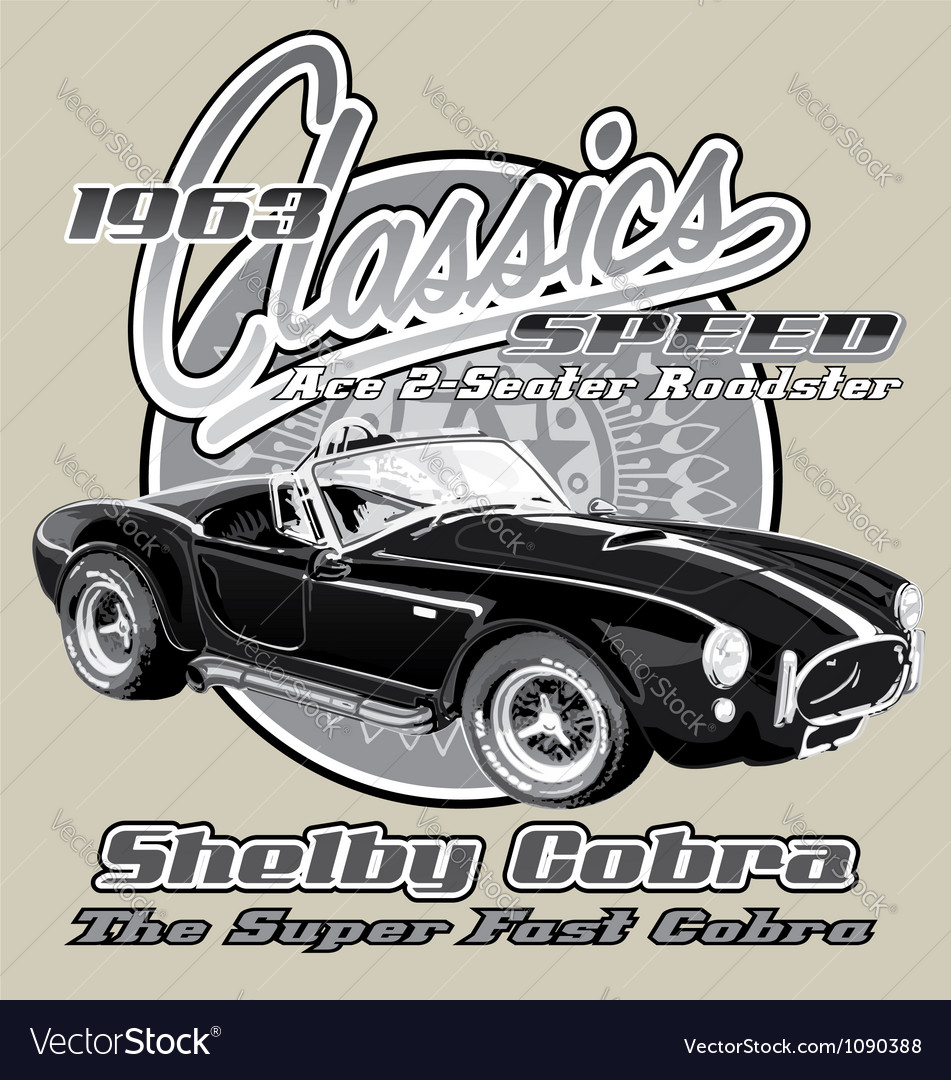 Shelby cobra classic vector | Price: 1 Credit (USD $1)