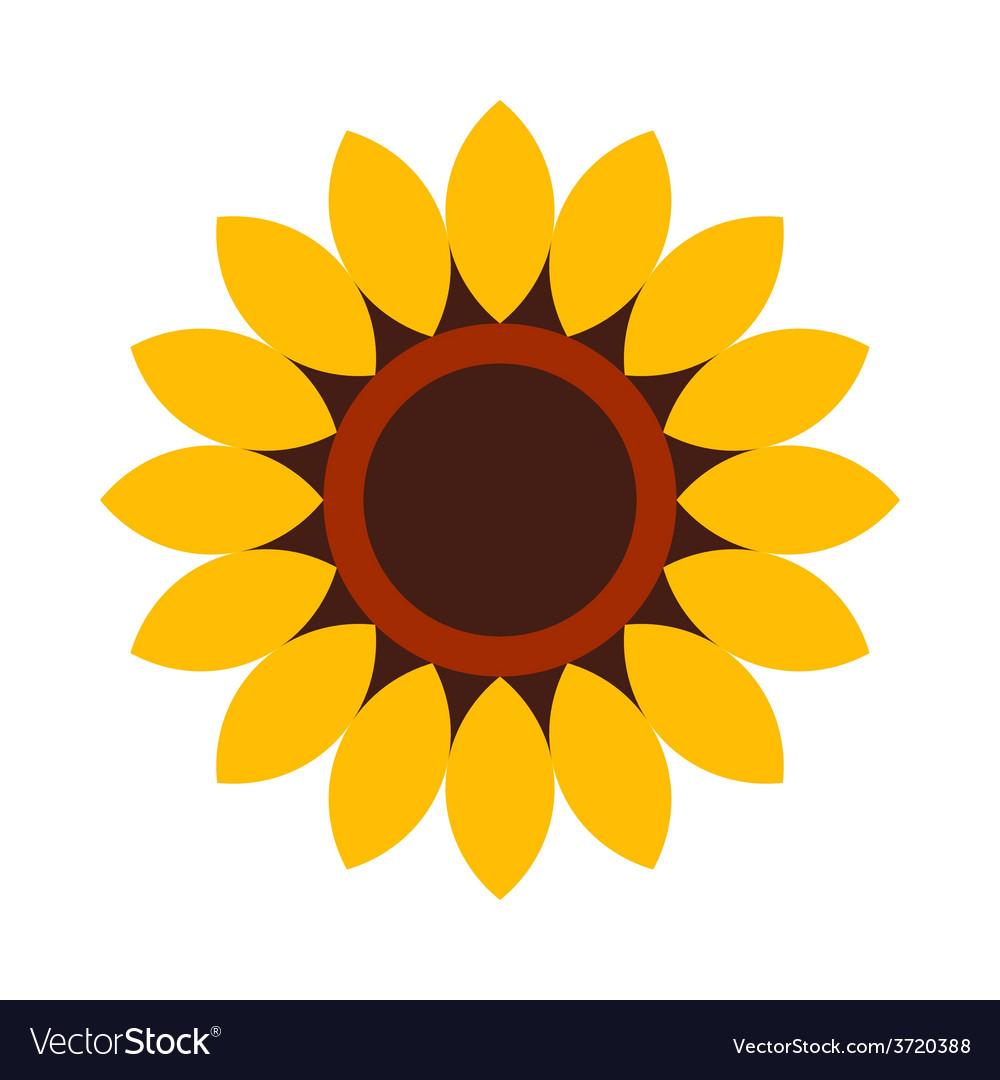 Sunflower - flower icon vector | Price: 1 Credit (USD $1)
