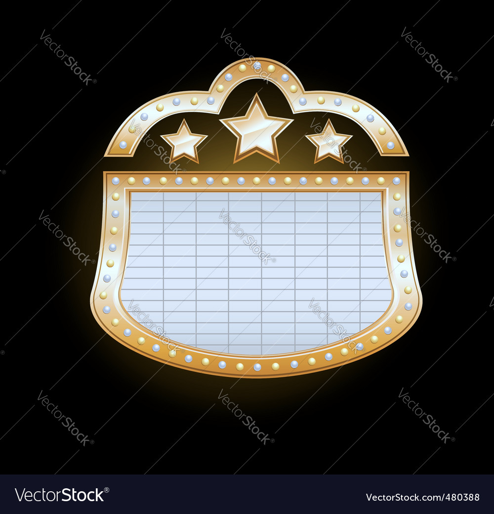 Theater marquee vector | Price: 1 Credit (USD $1)