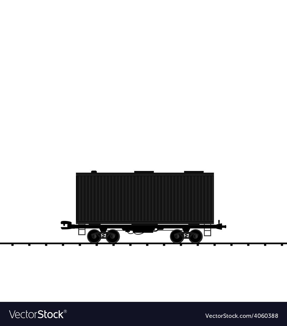 Wagon cargo railroad train black transportation ic vector   Price: 1 Credit (USD $1)