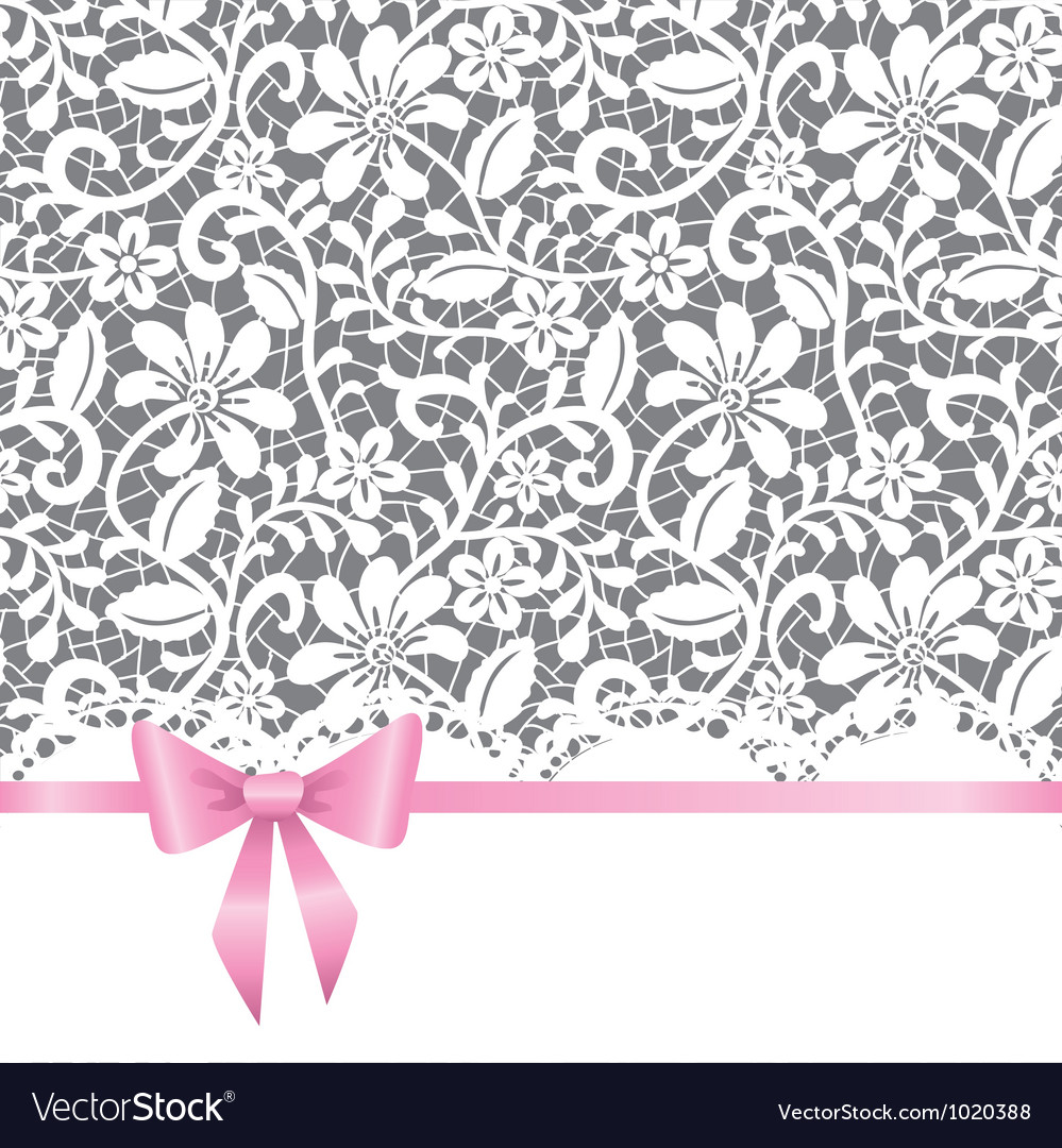 Wedding card with bow vector | Price: 1 Credit (USD $1)