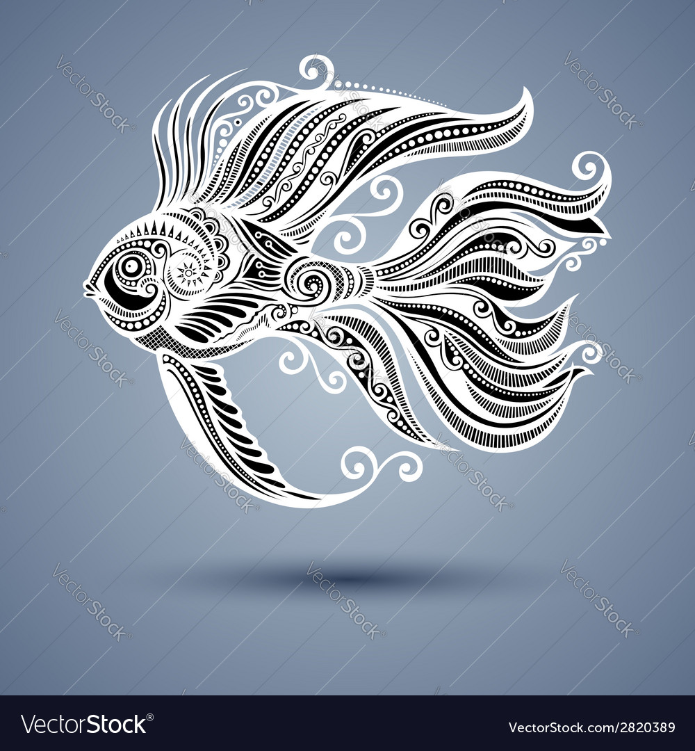 Abstract sea fish vector | Price: 1 Credit (USD $1)