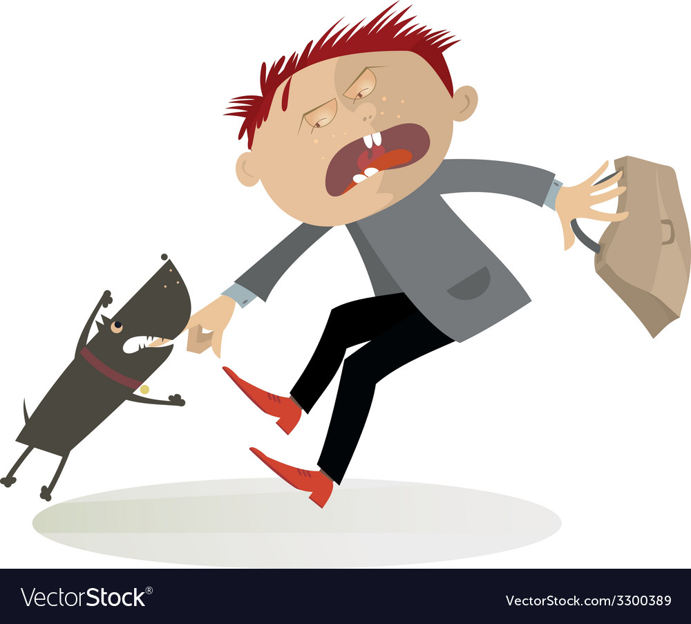 The aggressive dog vector | Price: 1 Credit (USD $1)