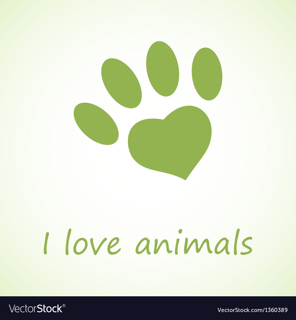 Animal foot print in eco style vector | Price: 1 Credit (USD $1)