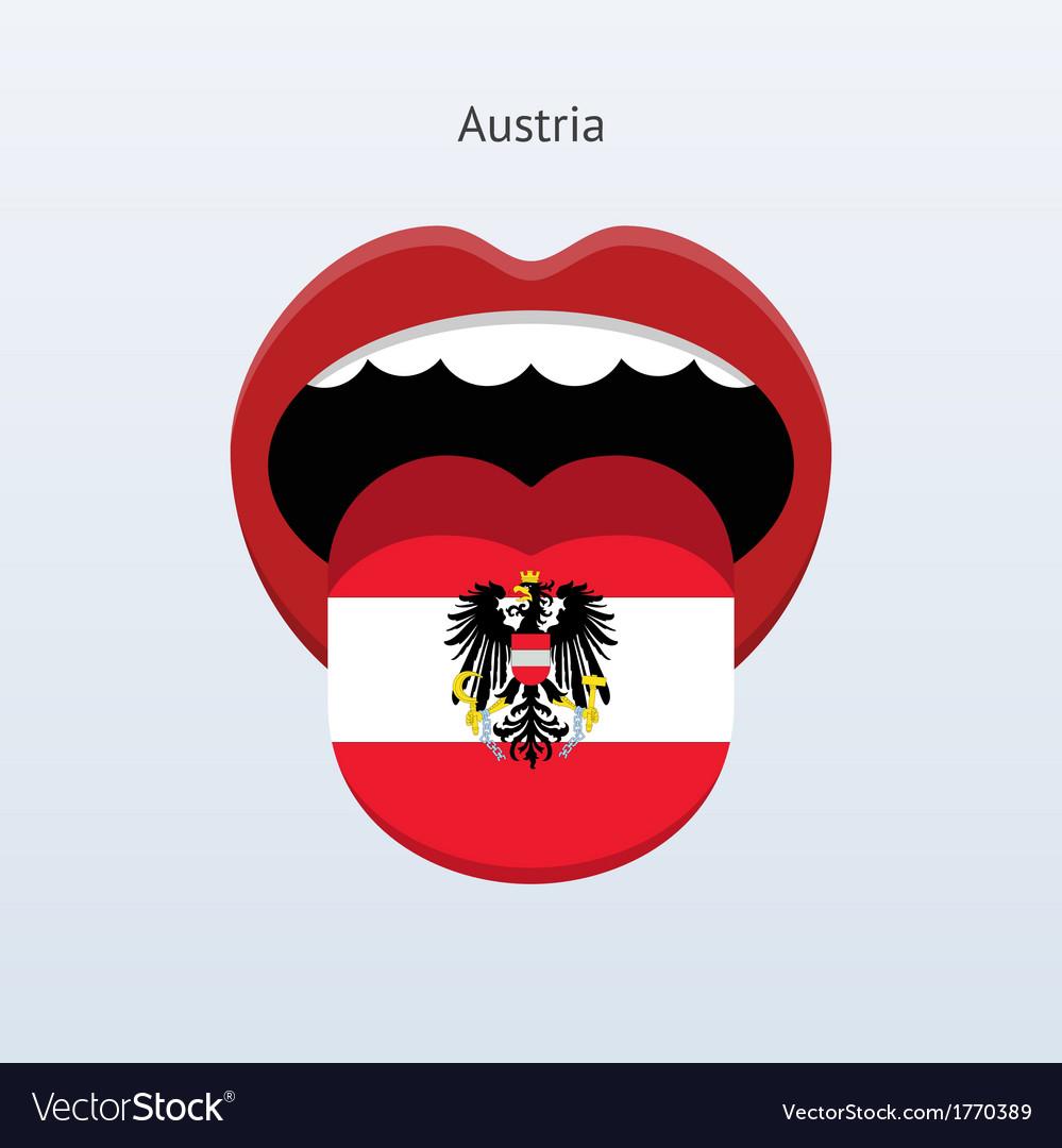 Austria language abstract human tongue vector | Price: 1 Credit (USD $1)