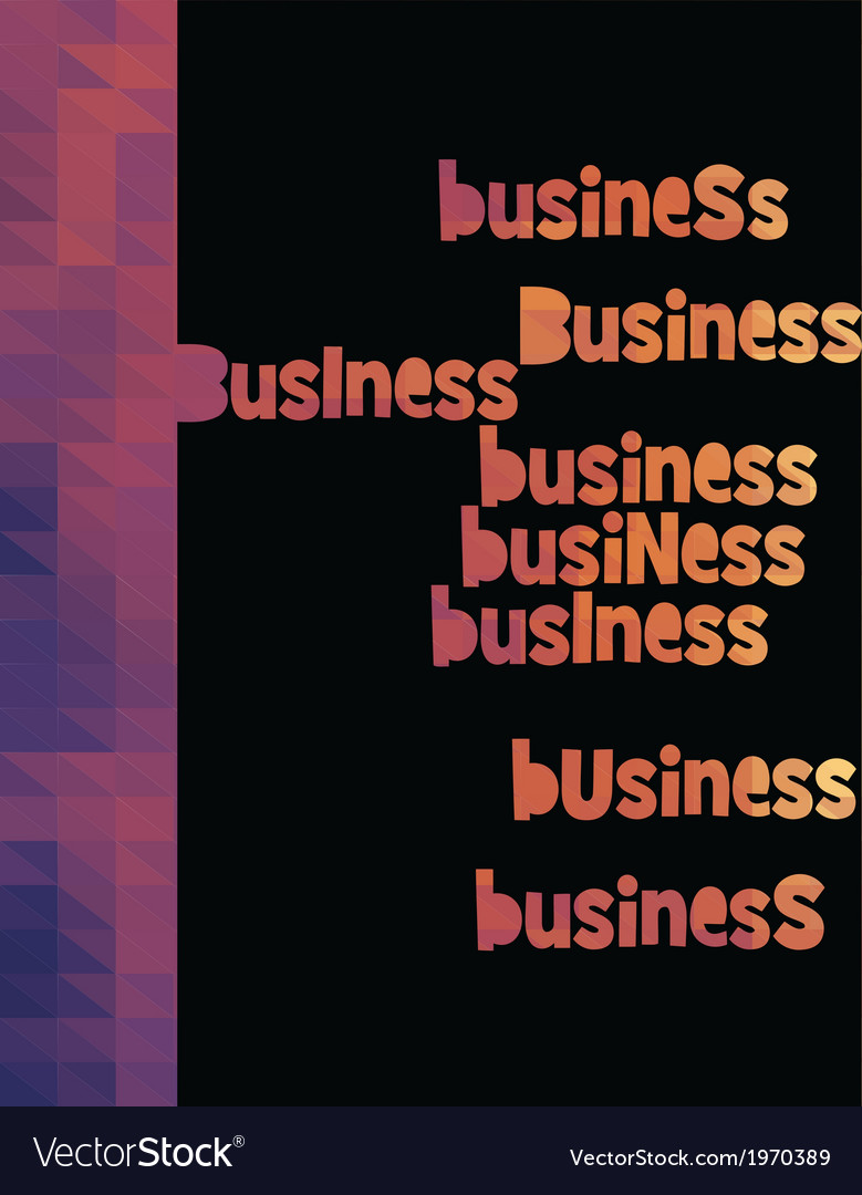 Business triangle colorful vector | Price: 1 Credit (USD $1)