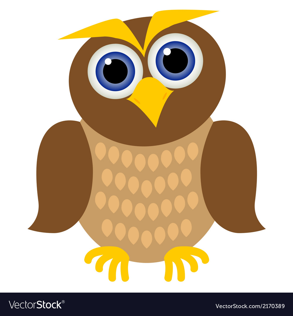 Clever owl vector | Price: 1 Credit (USD $1)