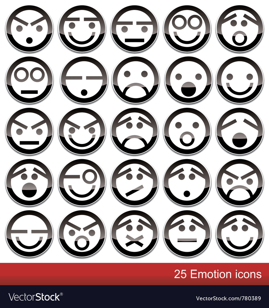 Emotion icons vector | Price: 1 Credit (USD $1)