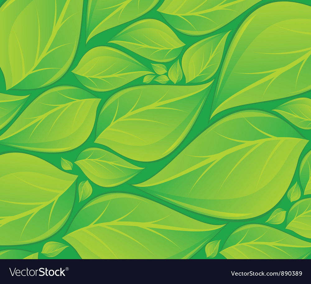 Green leaves background texture vector | Price: 3 Credit (USD $3)