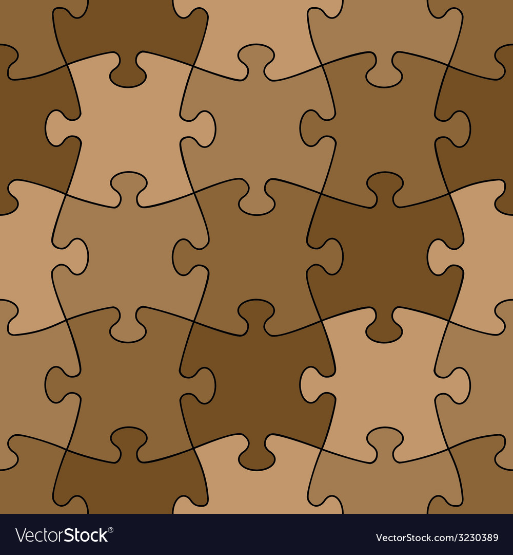 Seamless puzzle - easy change color vector | Price: 1 Credit (USD $1)