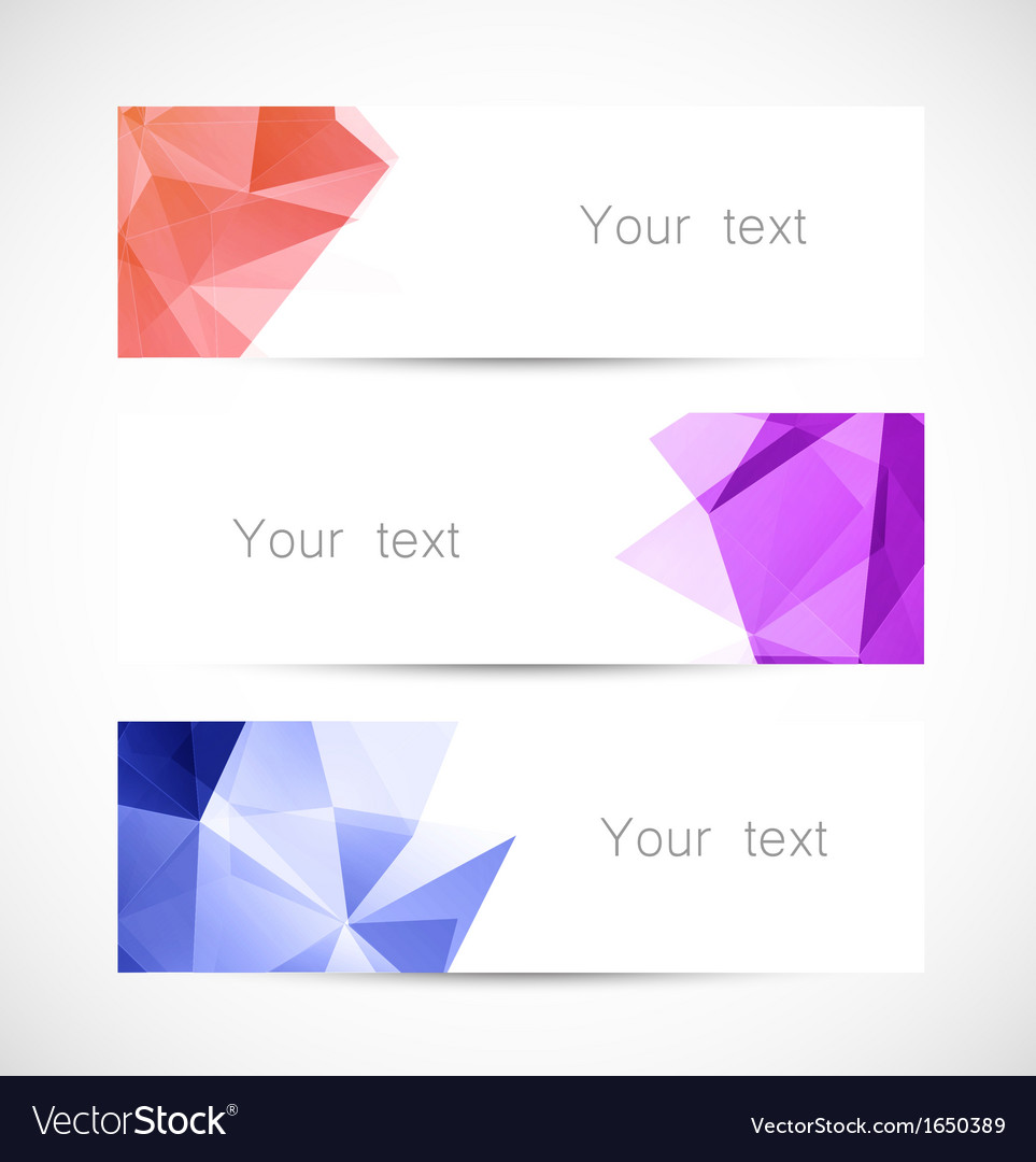 Set of geometric banners vector | Price: 1 Credit (USD $1)