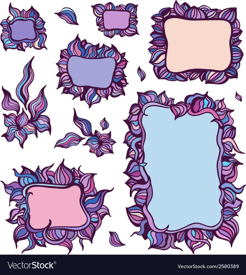 Set of ornamental frames vector | Price: 1 Credit (USD $1)