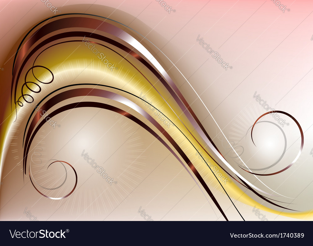 Yellow mesh gradient wave covered copper strip vector | Price: 1 Credit (USD $1)