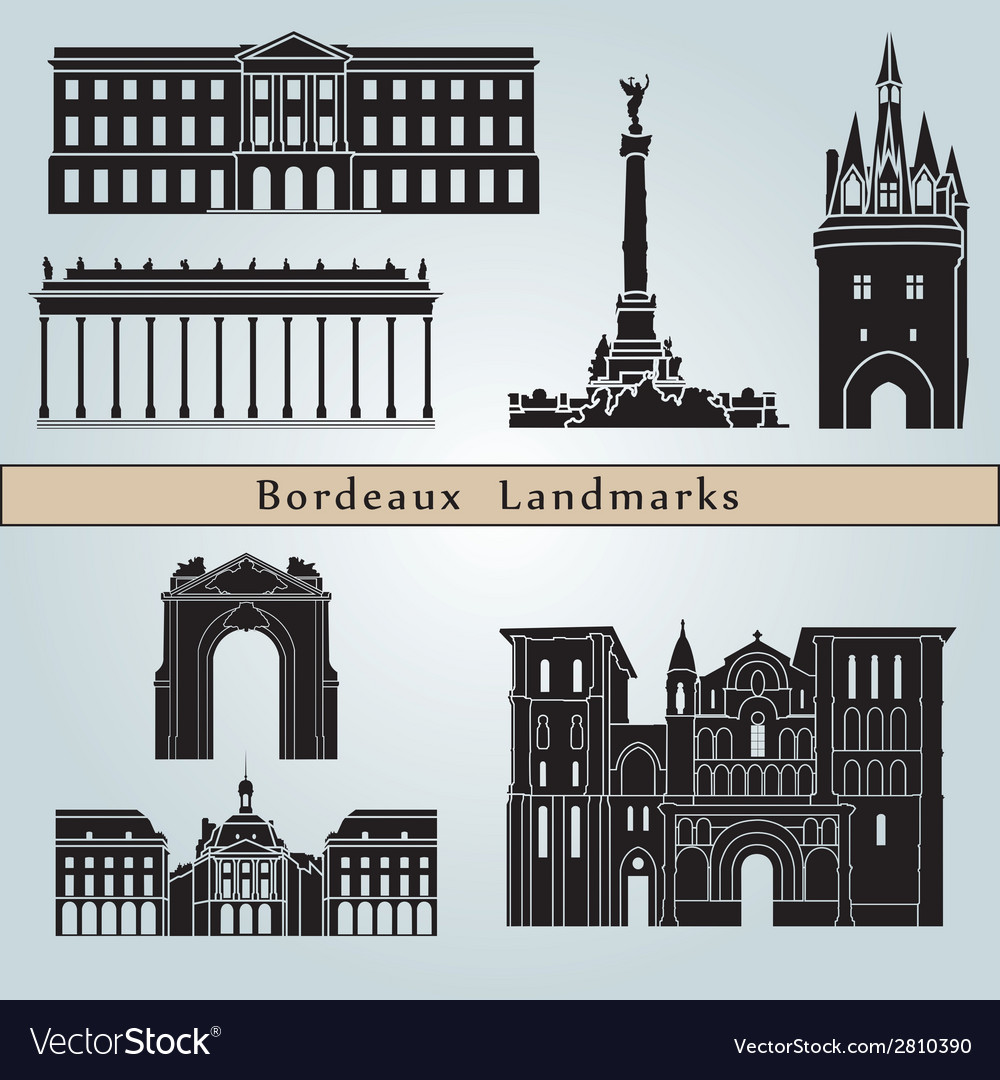 Bordeaux landmarks and monuments vector | Price: 1 Credit (USD $1)
