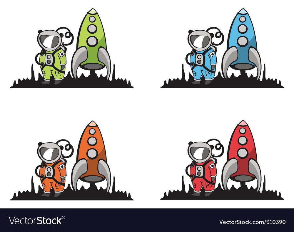 Cartoon astronaut vector | Price: 1 Credit (USD $1)