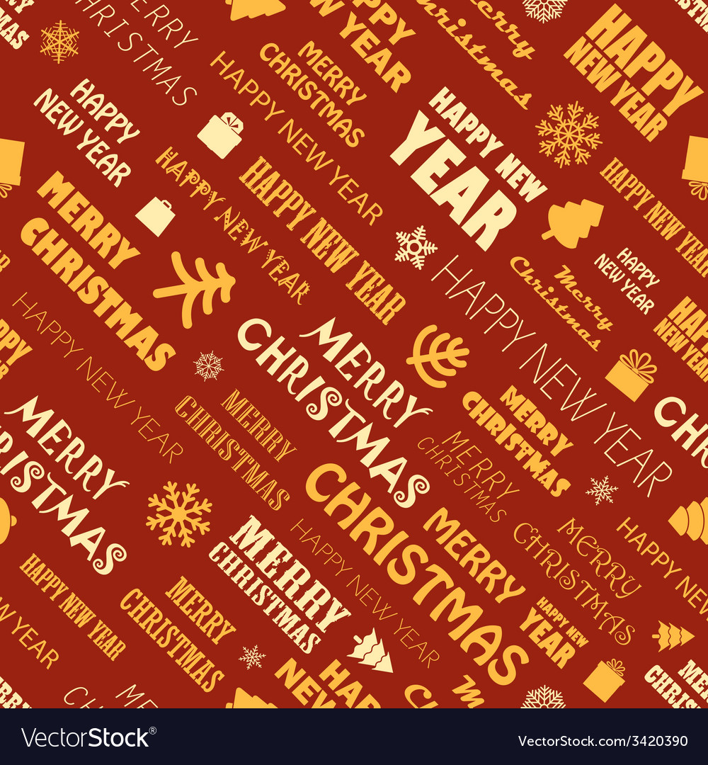 Christmas season elements seamless background vector | Price: 1 Credit (USD $1)