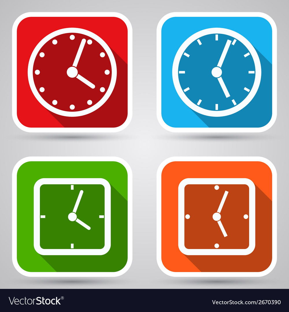 Clock icons collection vector | Price: 1 Credit (USD $1)