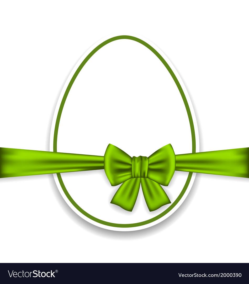 Easter celebration egg wrapping green bow vector | Price: 1 Credit (USD $1)