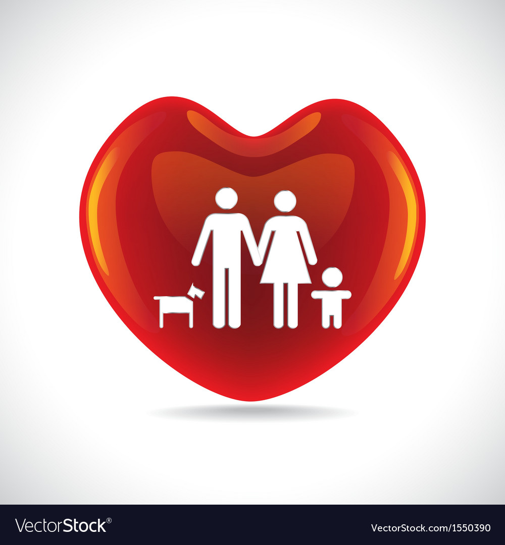 Family heart vector | Price: 1 Credit (USD $1)